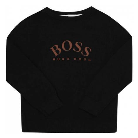 Boss Sweter J25G01 S Czarny Regular Fit Hugo Boss