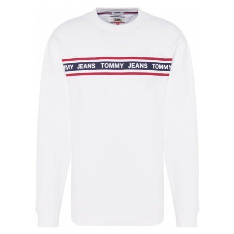 Tommy Jeans Bluzka sportowa 'TJM TAPE CREW E' biały Tommy Hilfiger