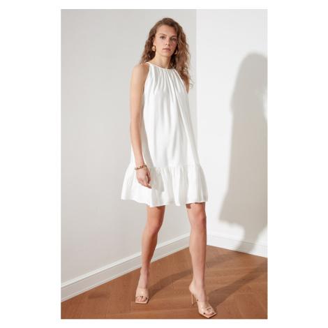 Trendyol White Halter Neck Dress