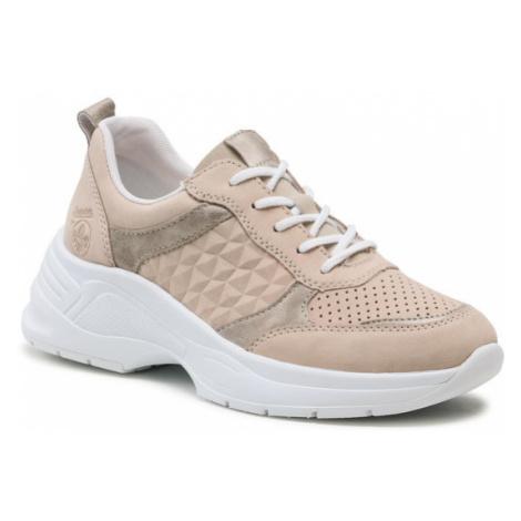 Rieker Sneakersy 59426-60 Beżowy