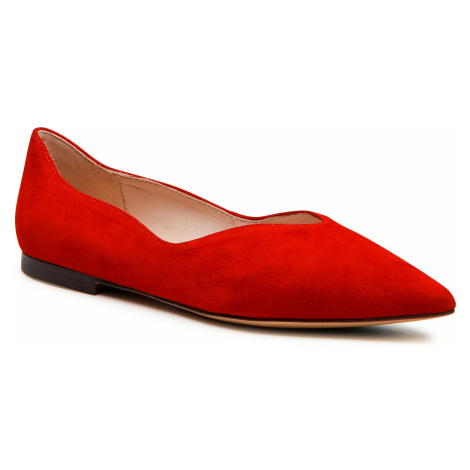 Baleriny CAPRICE - 9-24200-26 Red Suede 524
