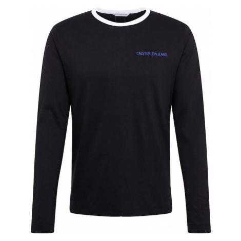 Calvin Klein Jeans Koszulka ' Monogram Tape Black ' czarny / niebieski
