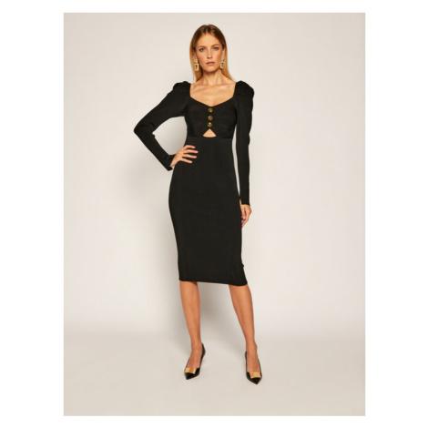 Versace Jeans Couture Sukienka dzianinowa B4HZA803 Czarny Slim Fit