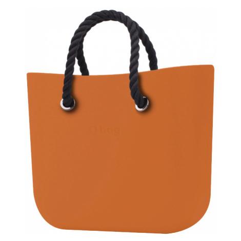 O bag torebka MINI Mattone z krótkimi czarnymi linami