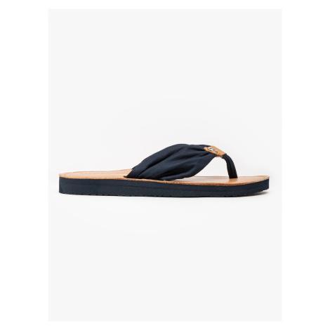 "Tommy Hilfiger ""Leather Footbed Beach Sandal"" Blue"
