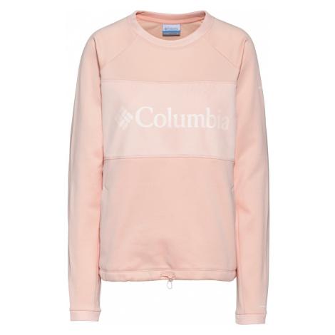 COLUMBIA Bluzka sportowa różowy pudrowy / biały