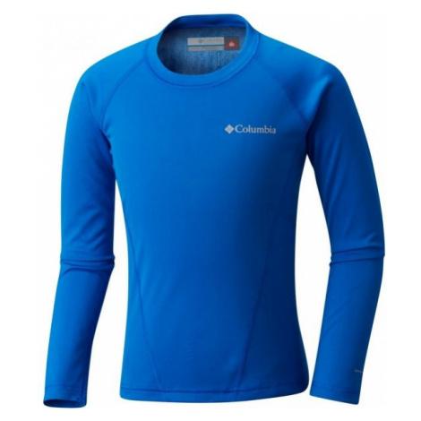 Columbia MIDWEIGHT CREW 2 niebieski S - Koszulka termoaktywna dziecięca