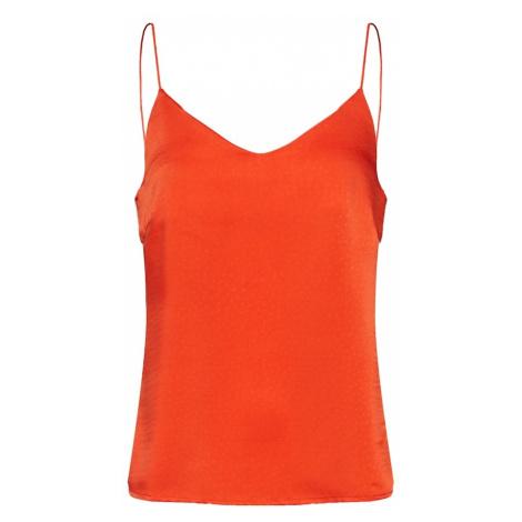 VILA Top 'JUANA' pomarańczowo-czerwony