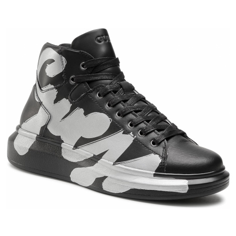 Sneakersy GUESS - Salerno Mid FM5SLM LEA12 BLACK