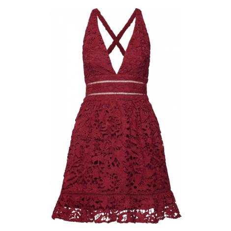 Love Triangle Sukienka koktajlowa 'Snow Storm' bordowy