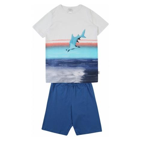 SCHIESSER Piżama niebieski / biały
