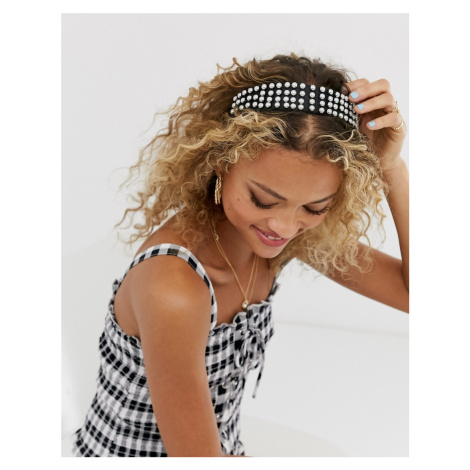 ASOS DESIGN headband with pearl drench embellishment