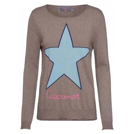 LIEBLINGSSTÜCK Sweter 'LailaniL' jasnoniebieski / jasnobrązowy / różowy