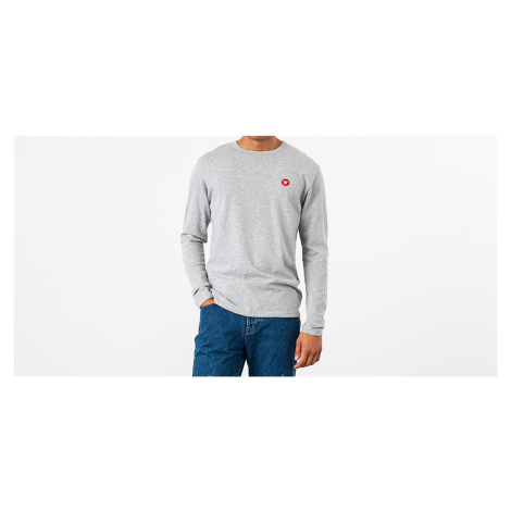 WOOD WOOD Long Sleeve Tee Grey Melange