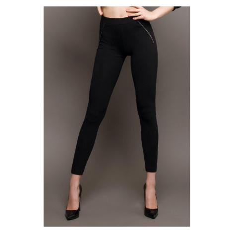 Damskie czarne legginsy Jadea
