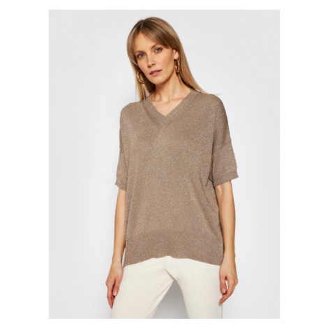Marella Sweter Key 33610815 Beżowy Relaxed Fit