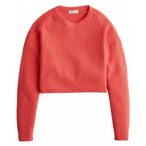 HOLLISTER Sweter czerwony