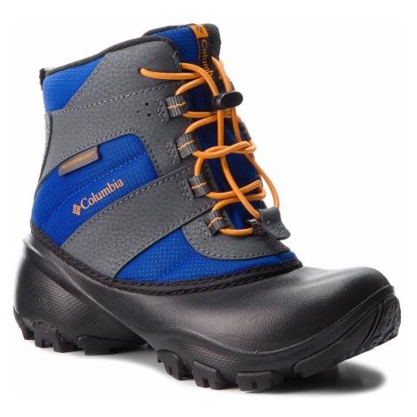 Śniegowce COLUMBIA - Childrens Rope Tow III Waterproof BC1322 Azul/Orange Blast 437