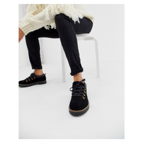 ASOS DESIGN Mazing suede hiker flat shoes