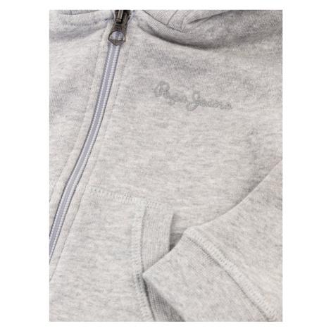 Pepe Jeans Bluza Zip Thru Boys PB580901 Szary Regular Fit