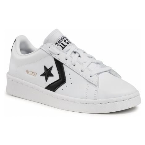 Sneakersy CONVERSE - Pro Leather Ox 167237C White/Black/White