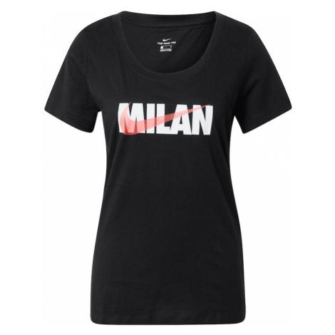 Nike Sportswear Koszulka czarny / biały / łososiowy