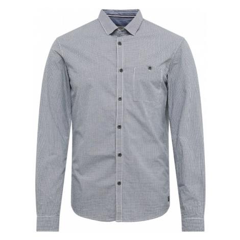 TOM TAILOR DENIM Koszula biznesowa 'mini vichy shirt' biały / granatowy