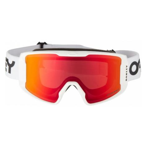 OAKLEY Okulary sportowe 'Line Miner M' czerwony / biały
