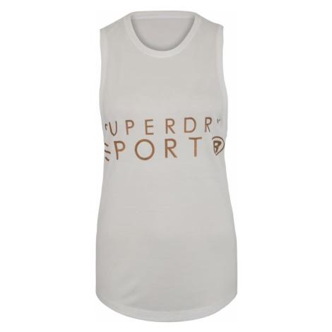 Superdry Top sportowy 'Active Studio Luxe Vest' biały