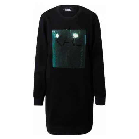 Karl Lagerfeld Sukienka czarny / ciemnozielony