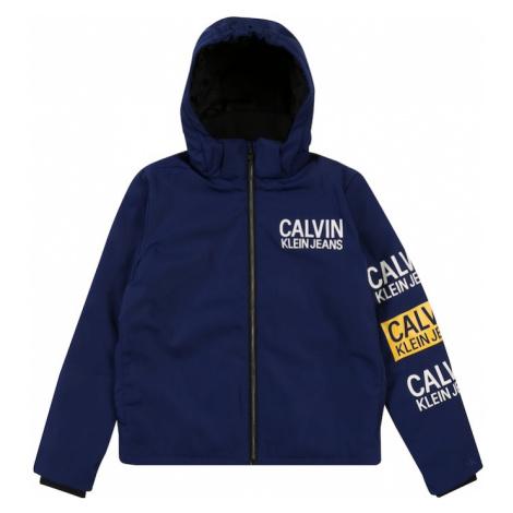 Calvin Klein Jeans Kurtka zimowa 'STAMP LOGO HOODED SH' niebieski