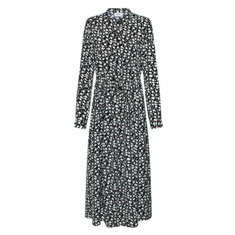 Moves Sukienka koszulowa 'Tanisa' czarny / biały