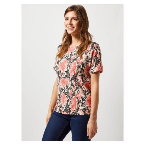 Koralowa koszulka z wężowym wzorem Dorothy Perkins