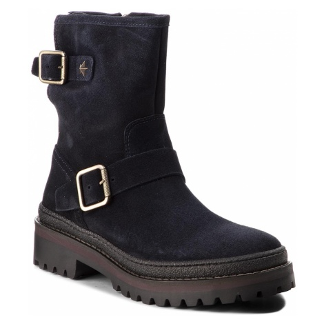 Botki TOMMY HILFIGER - Basic Biker Boot Sue FW0FW03308 Midnight 403