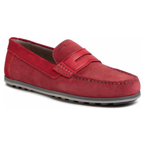 Mokasyny GEOX - U Mirvin B U024LB 0BS22 C7000 Red