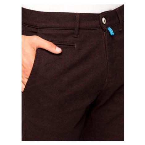 Pierre Cardin Spodnie materiałowe Lyon 33757 4746 96 Bordowy Modern Fit