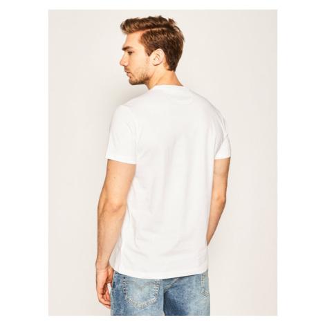La Martina T-Shirt Jersey MR004 JS206 Biały Regular Fit