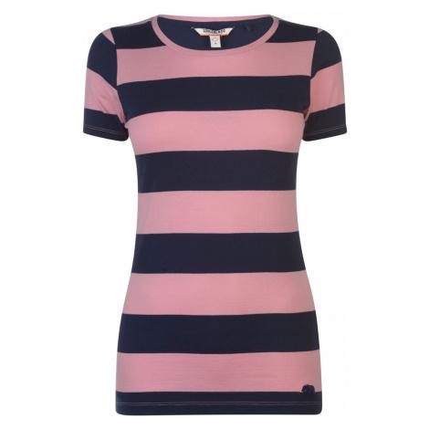 SoulCal Stripe T Shirt Ladies Soulcal & Co