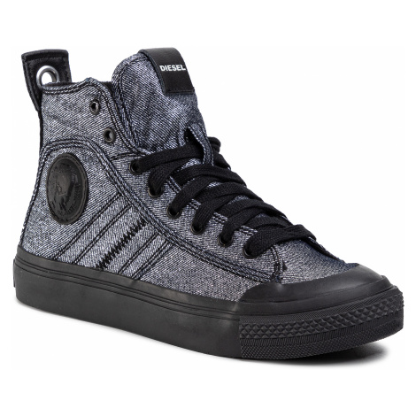 Sneakersy DIESEL - S-Astico Mid Lace W Y01932 P3007 H7808 Silver Black