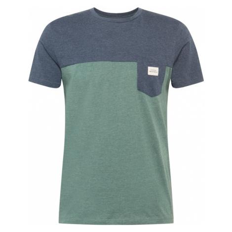 JACK & JONES Koszulka zielony / atramentowy