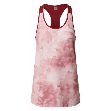 ROXY Koszulka funkcyjna 'HEAD IN CLOUDS' stary róż / biały / ciemnoczerwony