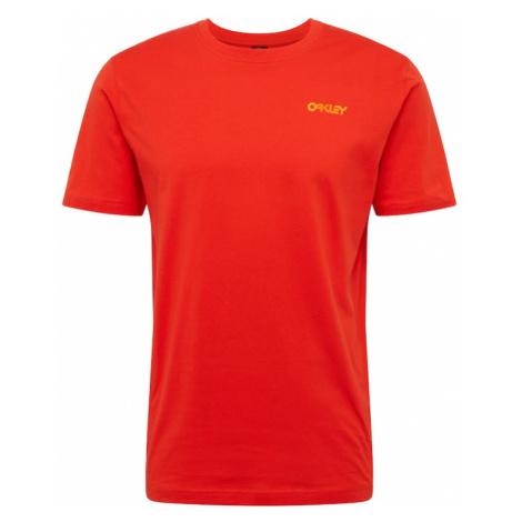 OAKLEY Koszulka 'IRIDIUM' pomarańczowy