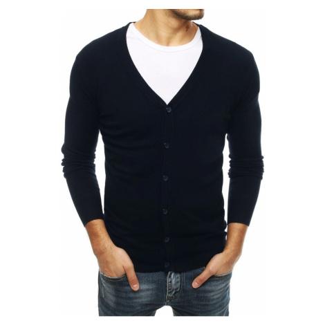 Męski granatowy sweter WX1541 DStreet