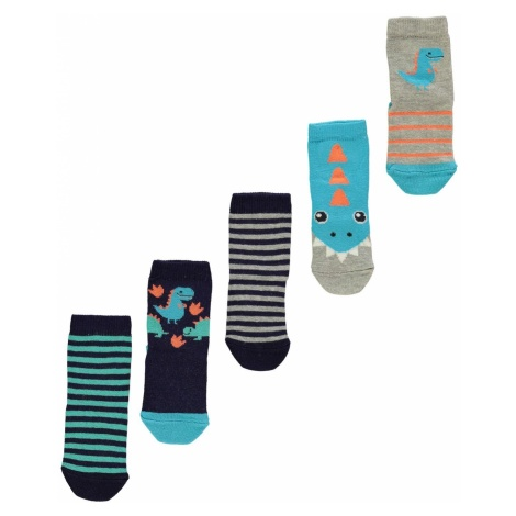 Crafted Essentials 5 Pack Socks Infant Boys