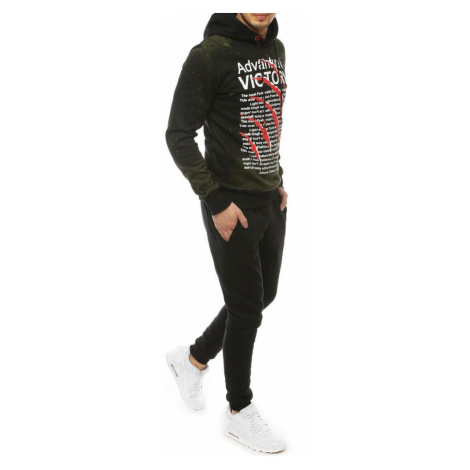 Men's green and black tracksuit AX0279 DStreet