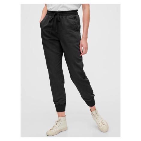 GAP czarne spodnie Ribbed Joggers