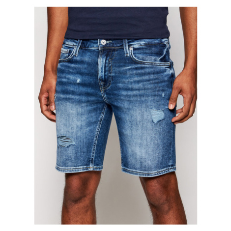 Guess Szorty jeansowe M1GD03 D4CH2 Niebieski Regular Fit
