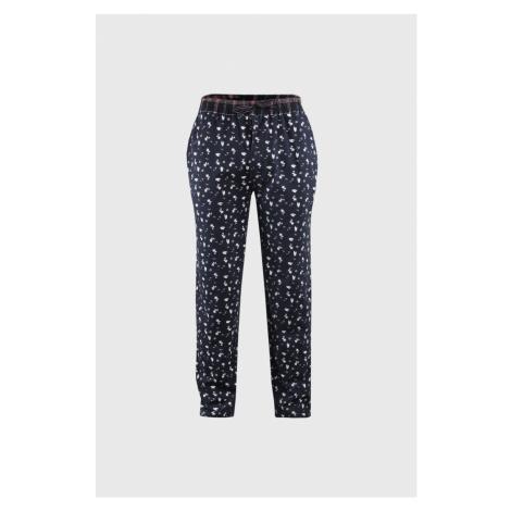 Męskie spodnie od piżamy niebieskie