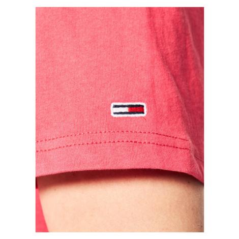 Tommy Jeans T-Shirt Tommy Flag Tee DM0DM07009 Różowy Regular Fit Tommy Hilfiger