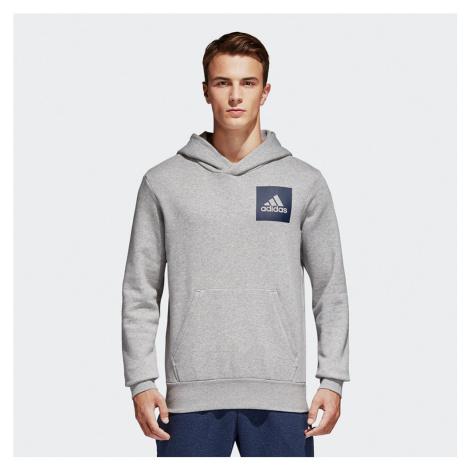 Adidas Essentials Logo Hoodie Męska Szara (B45729)